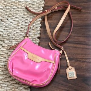 Dooney & Bourke Pink Patent Leather Crossbody Bag